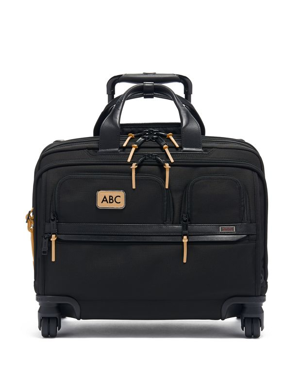 Deluxe 4 Wheeled Laptop Case Brief in Grey Highlands Print