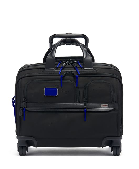 Deluxe 4 Wheeled Laptop Case Brief in Atlantic
