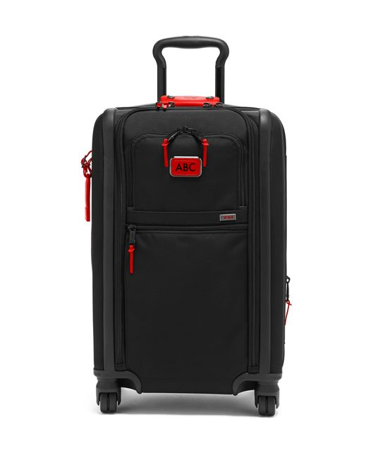 International Dual Access 4 Wheeled Carry-On in Cherry