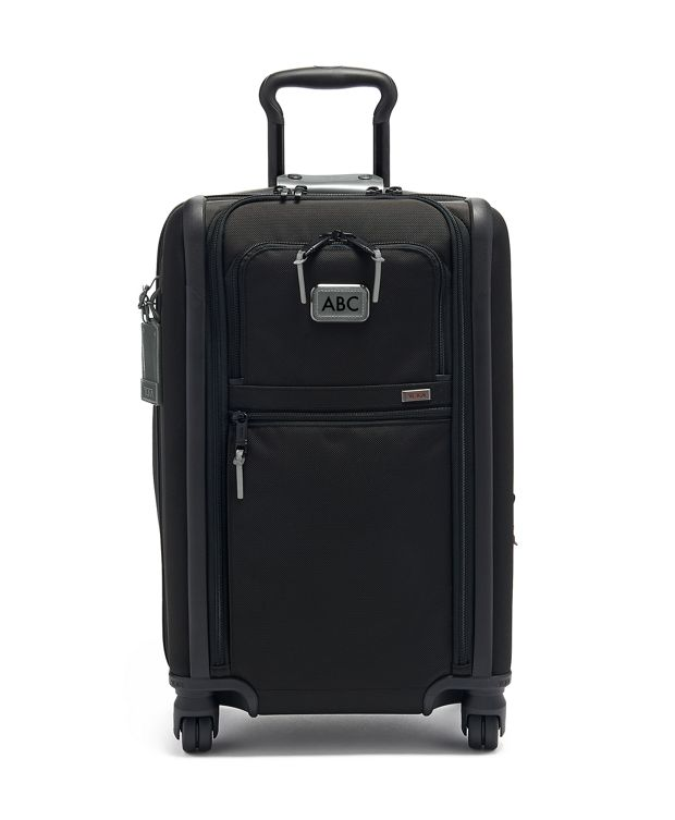 International Dual Access 4 Wheeled Carry-On in Metallic Silver