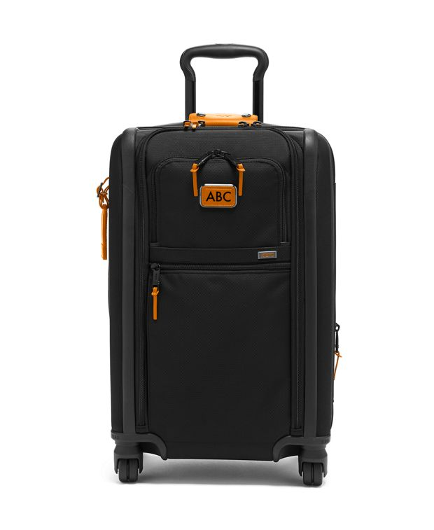 International Dual Access 4 Wheeled Carry-On in Tan