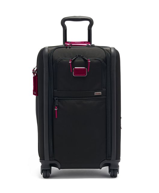 International Dual Access 4 Wheeled Carry-On in Metallic Pink