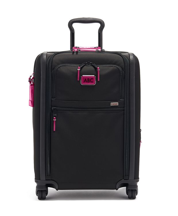 Continental Dual Access 4 Wheeled Carry-On in Metallic Pink