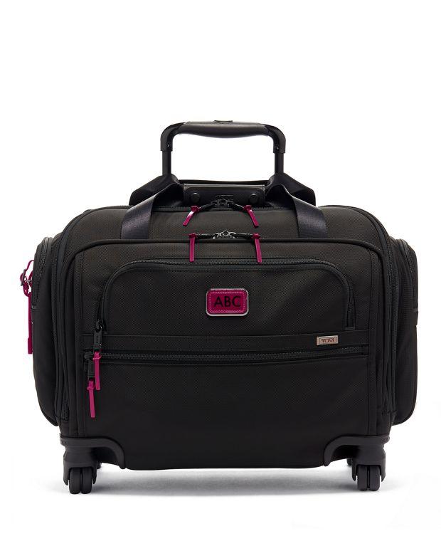 Compact 4 Wheeled Duffel in Metallic Pink