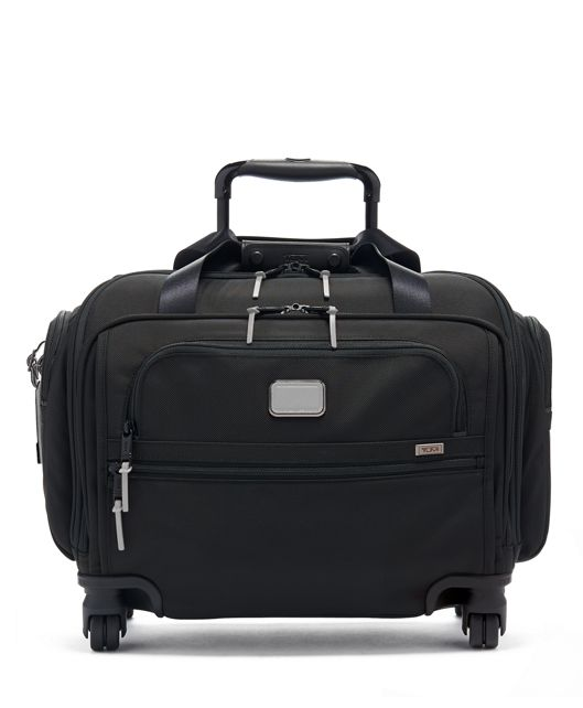 Compact 4 Wheeled Duffel in Reflective Silver