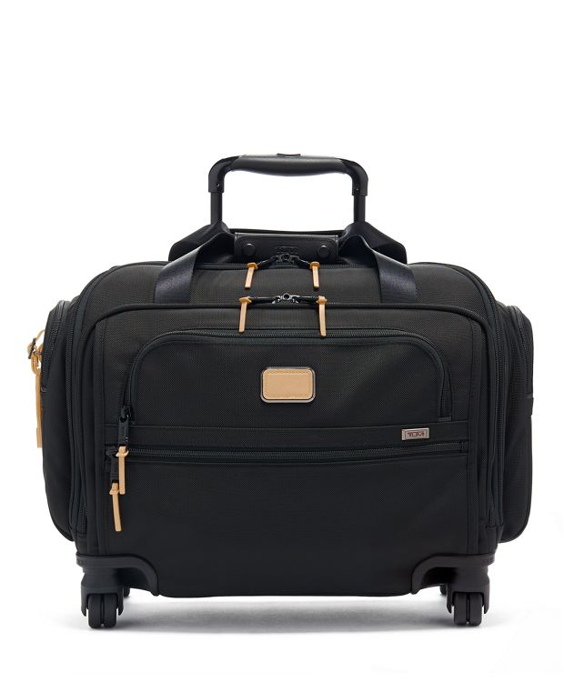 Compact 4 Wheeled Duffel in Grey Highlands Print