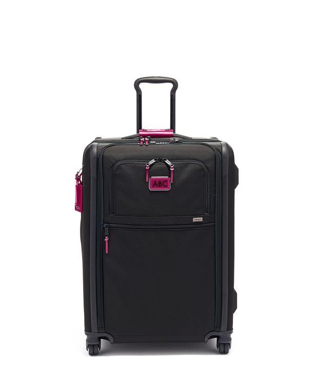 Short Trip Expandable 4 Wheeled Packing Case in Metallic Pink