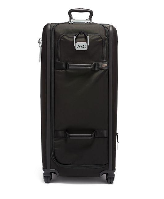 Tall 4 Wheeled Duffel Packing Case in Metallic Silver