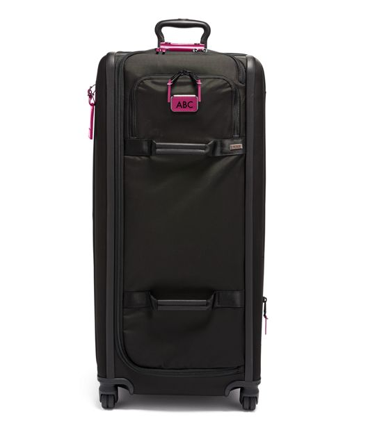 Tall 4 Wheeled Duffel Packing Case in Metallic Pink