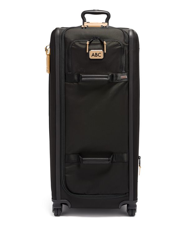 Tall 4 Wheeled Duffel Packing Case in Grey Highlands Print
