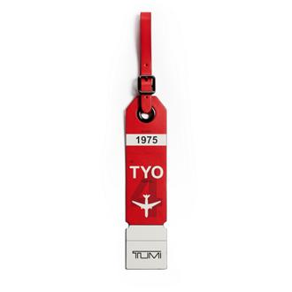 TOKYO LUGGAGE TAG Red - medium | Tumi Thailand