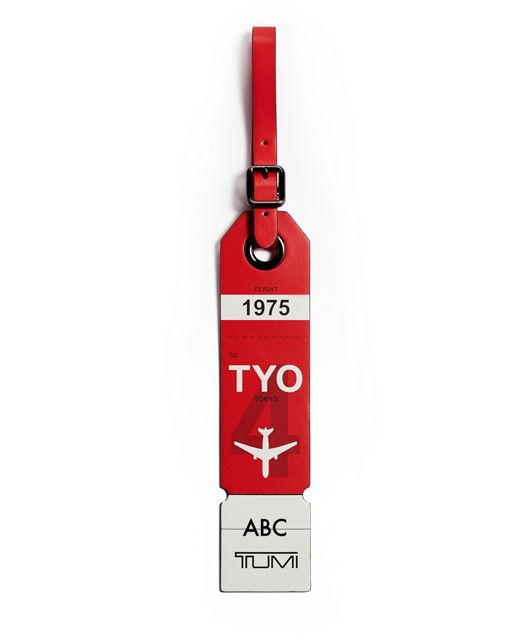 Tokyo Luggage Tag in Red