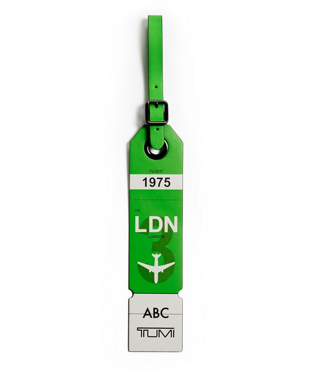 London Luggage Tag in Green