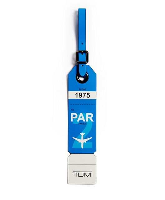 Paris Luggage Tag in Blue