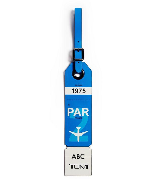 Paris Luggage Tag in Blue