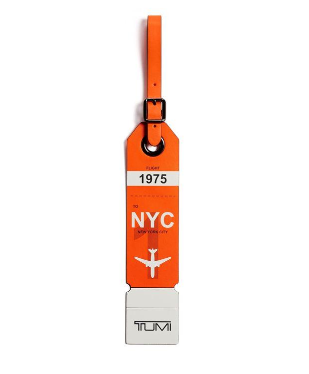 New York Luggage Tag in Orange