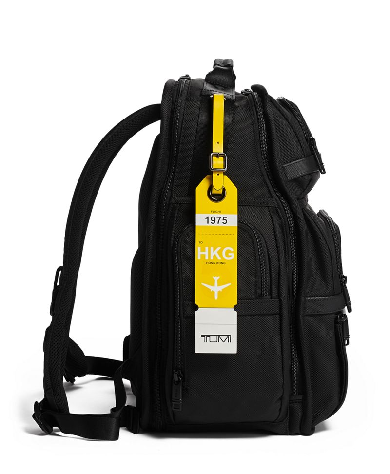 Yellow Hong Kong Luggage Tag