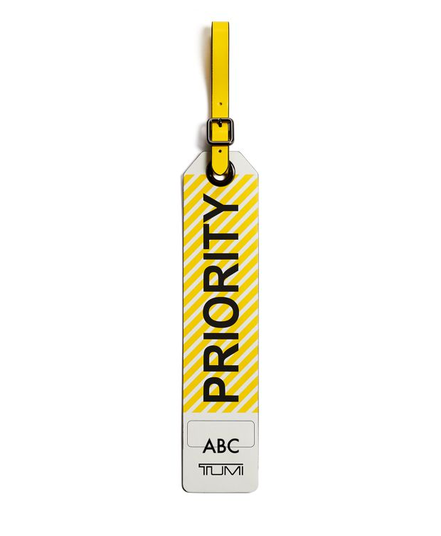 Priority Luggage Tag in Yellow