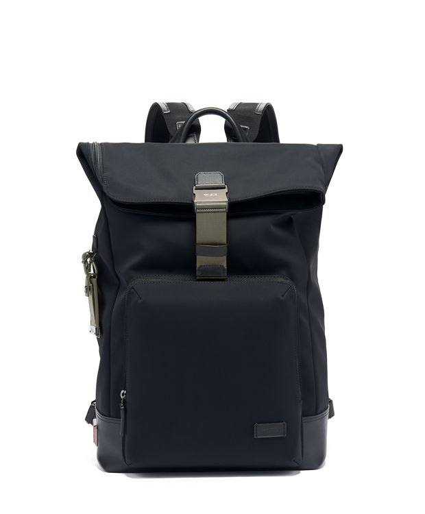 Oak Roll Top Backpack in Algae