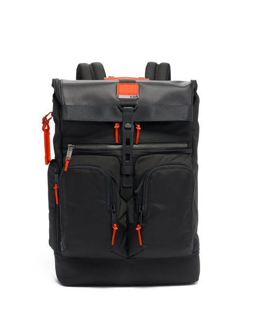 London Roll Top Backpack in Sunrise