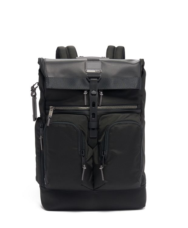 London Roll Top Backpack in Camo