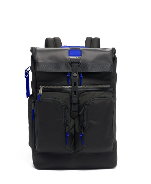London Roll Top Backpack in Atlantic