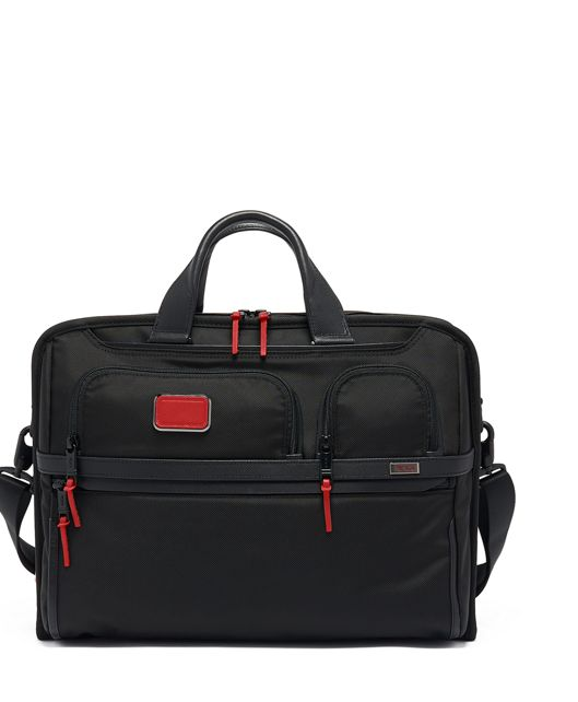 Compact Large Screen Laptop Brief in Cherry