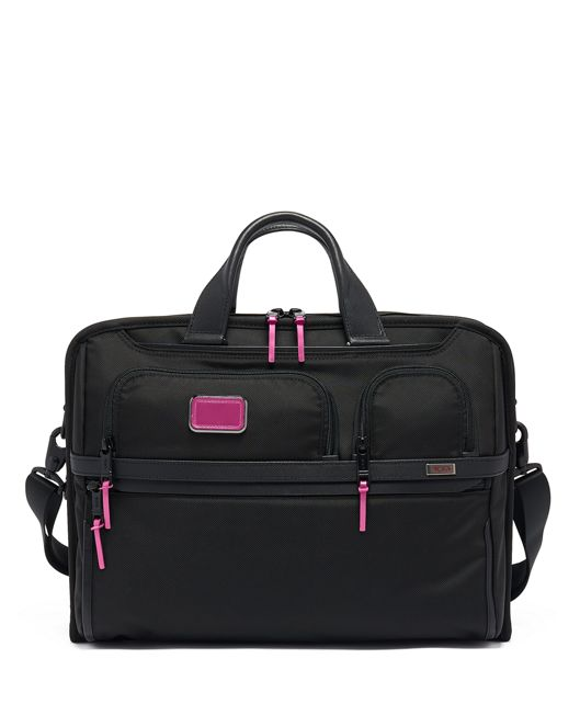Compact Large Screen Laptop Brief in Metallic Pink