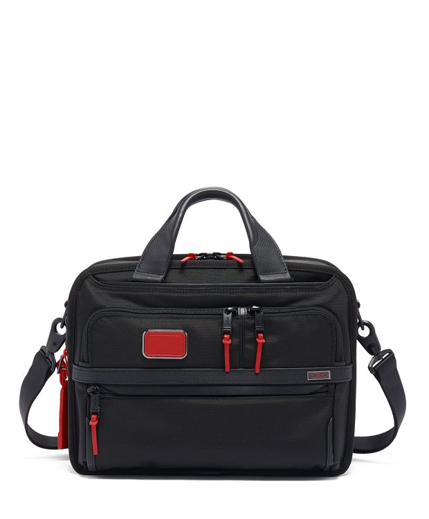 Small Screen Expandable Laptop Brief in Cherry