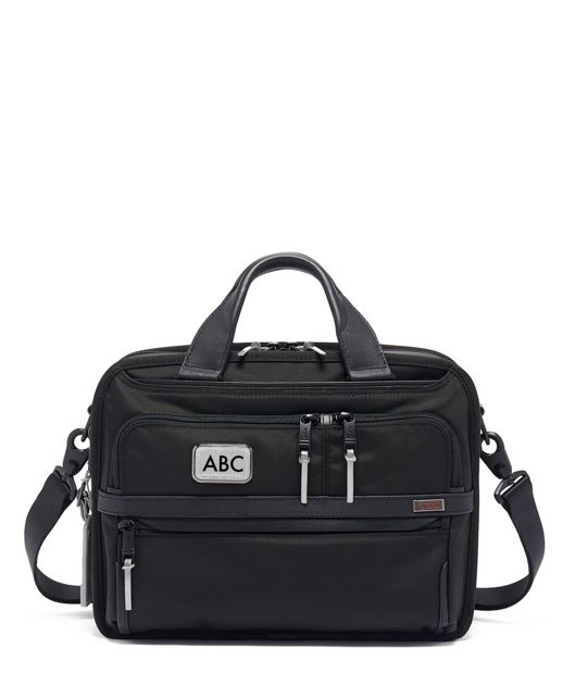 Small Screen Expandable Laptop Brief in Metallic Silver