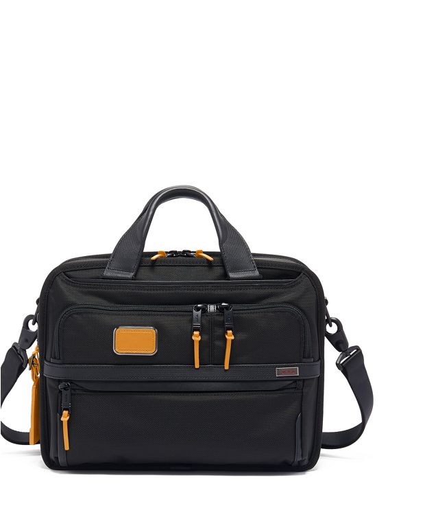 Small Screen Expandable Laptop Brief in Tan