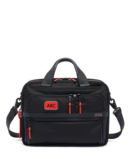Small Screen Expandable Laptop Brief in Congo Bright Print