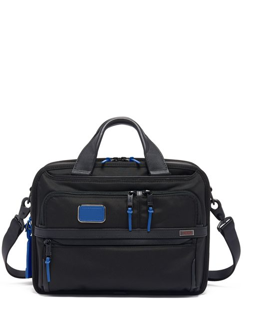 Small Screen Expandable Laptop Brief in Atlantic