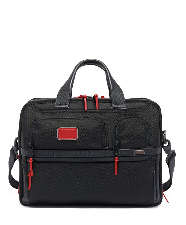 Expandable Organizer Laptop Brief in Cherry