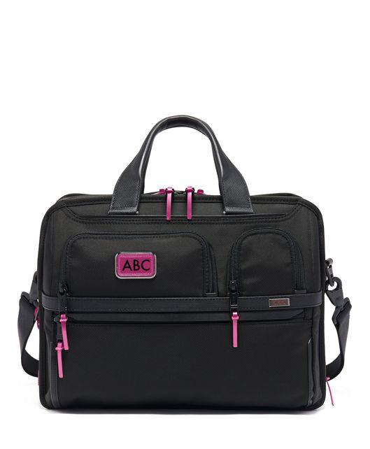 Expandable Organizer Laptop Brief in Metallic Pink
