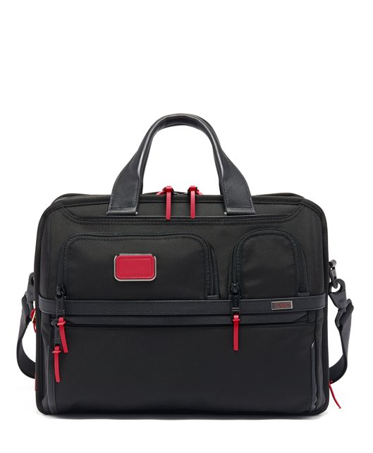 Expandable Organizer Laptop Brief in Collage Floral
