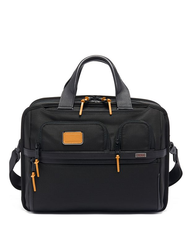 TUMI T-Pass® Expandable Laptop Brief in Tan