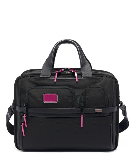 TUMI T-Pass® Expandable Laptop Brief in Metallic Pink