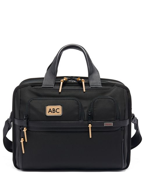 TUMI T-Pass® Expandable Laptop Brief in Grey Highlands Print