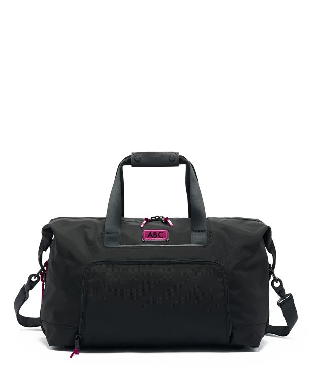 Double Expansion Travel Satchel in Metallic Pink