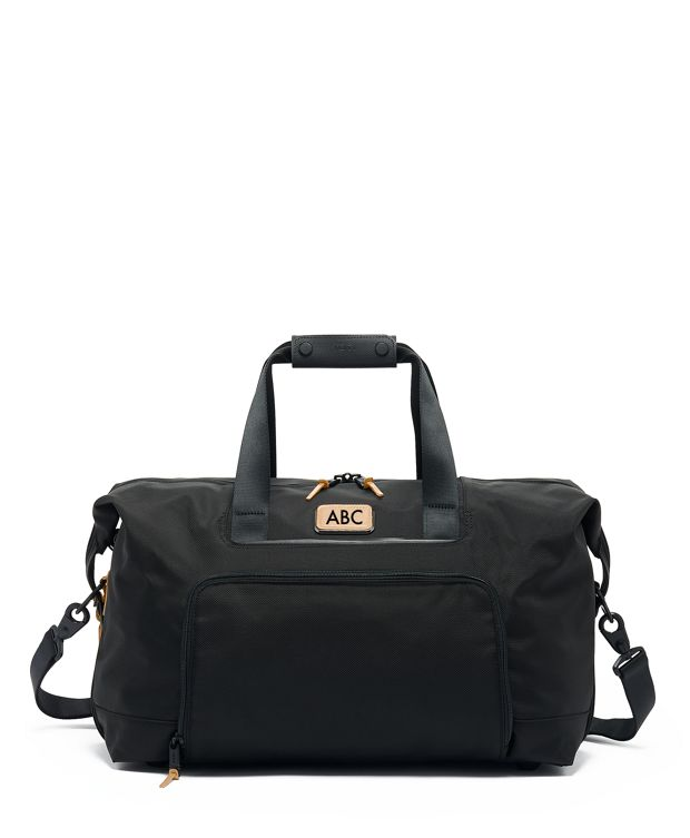Double Expansion Travel Satchel in Grey Highlands Print