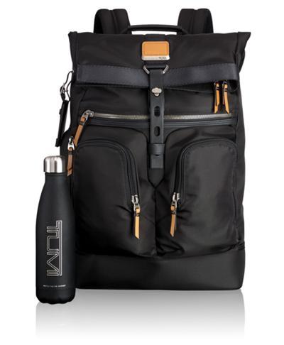 5f5dfb286d6 London Roll Top Backpack - Alpha Bravo - Tumi United States - Black