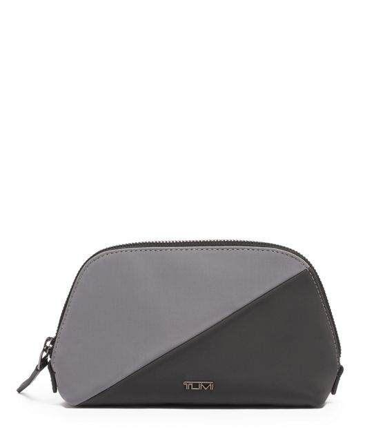 Domed Pouch in Pieced Grey