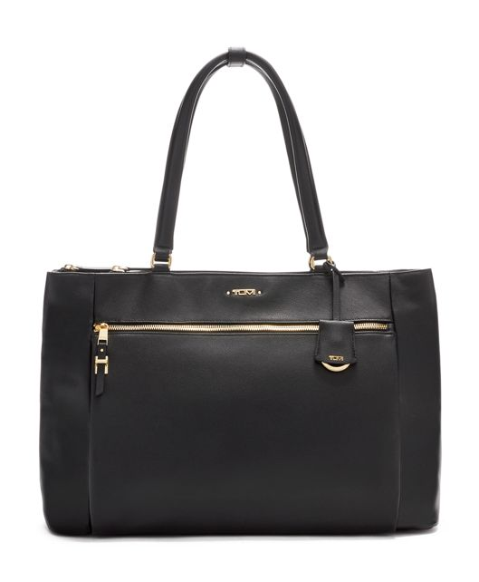 Sheryl Business Tote Leather in Black