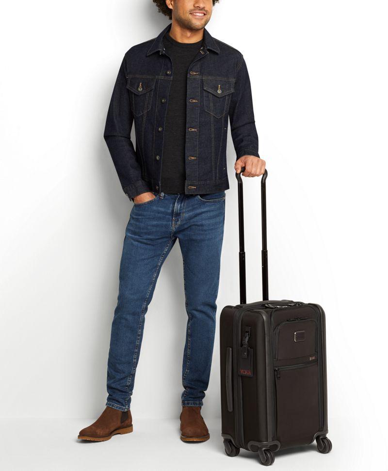 黑色鍍鉻國際雙拉鍊四輪手提行李箱