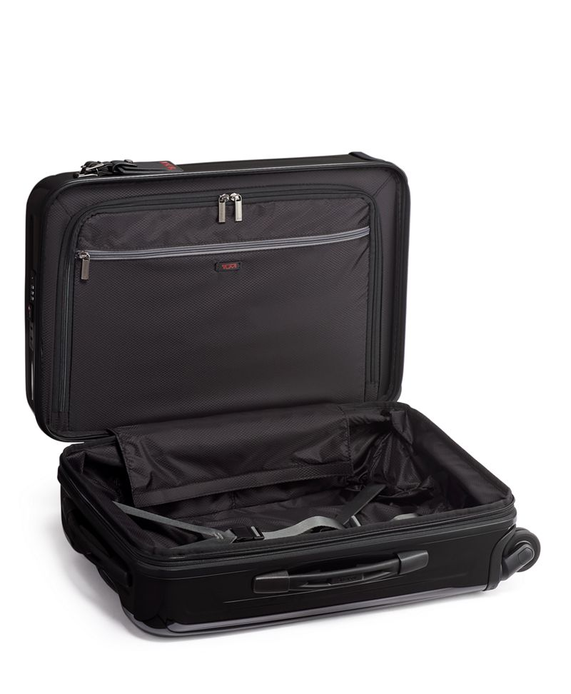Black International Expandable 4 Wheeled Carry-On