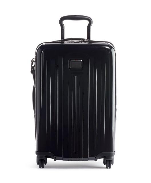 可擴充國際四輪手提行李箱 in 黑