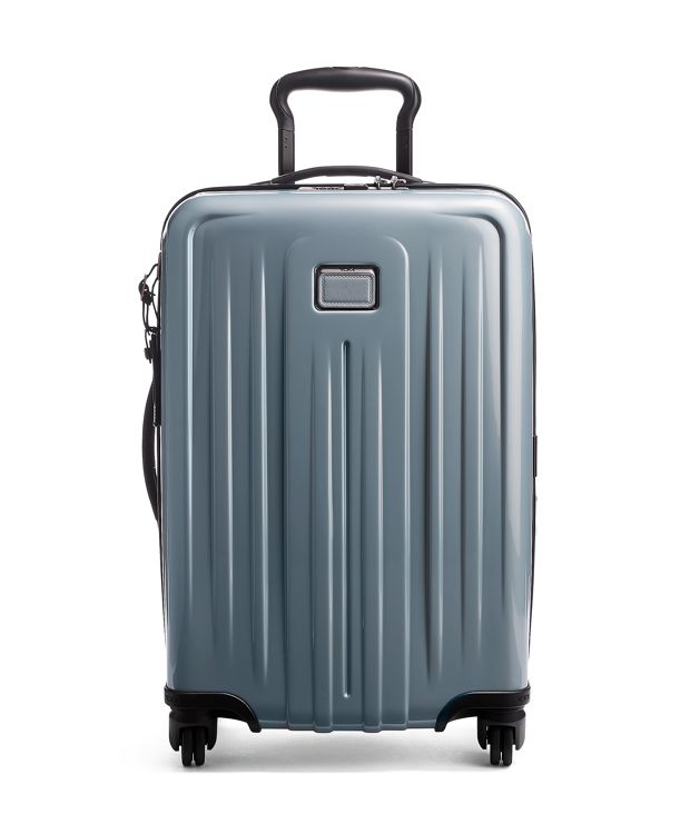International Expandable 4 Wheeled Carry-On in Stone Grey
