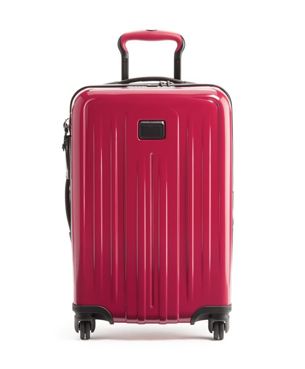International Expandable 4 Wheeled Carry-On in Raspberry