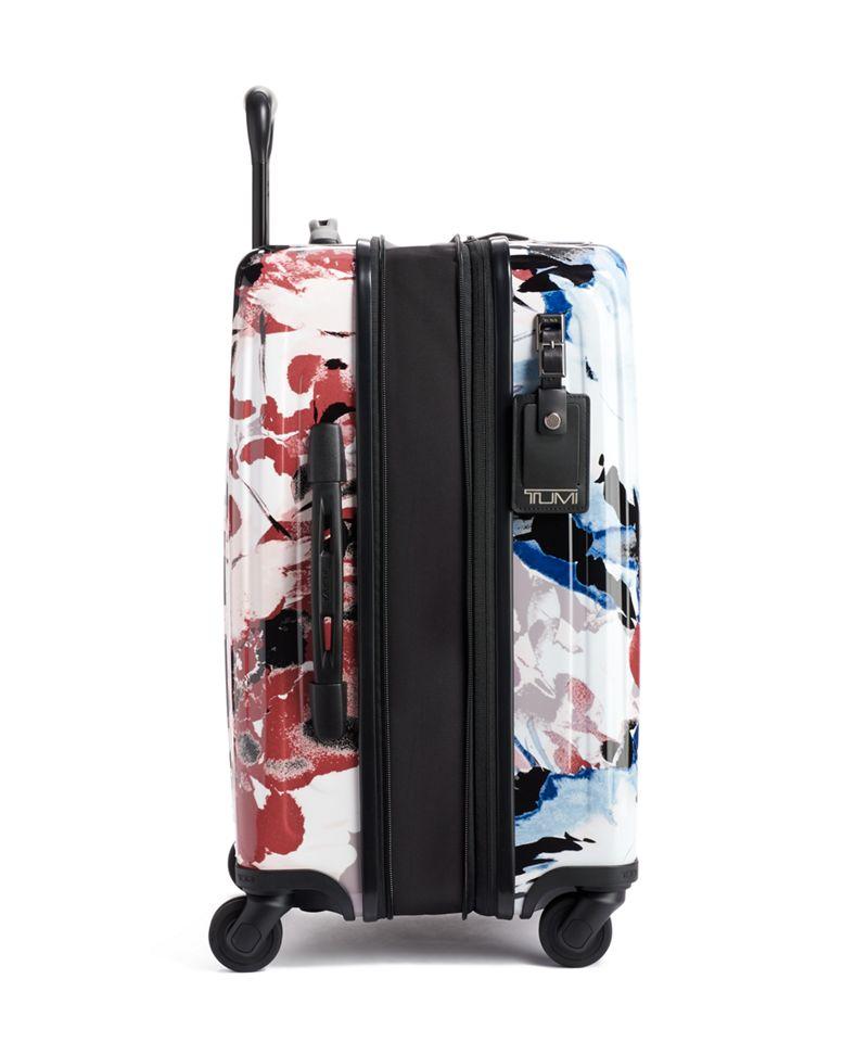 胭脂花卉圖案可擴充國際四輪手提行李箱